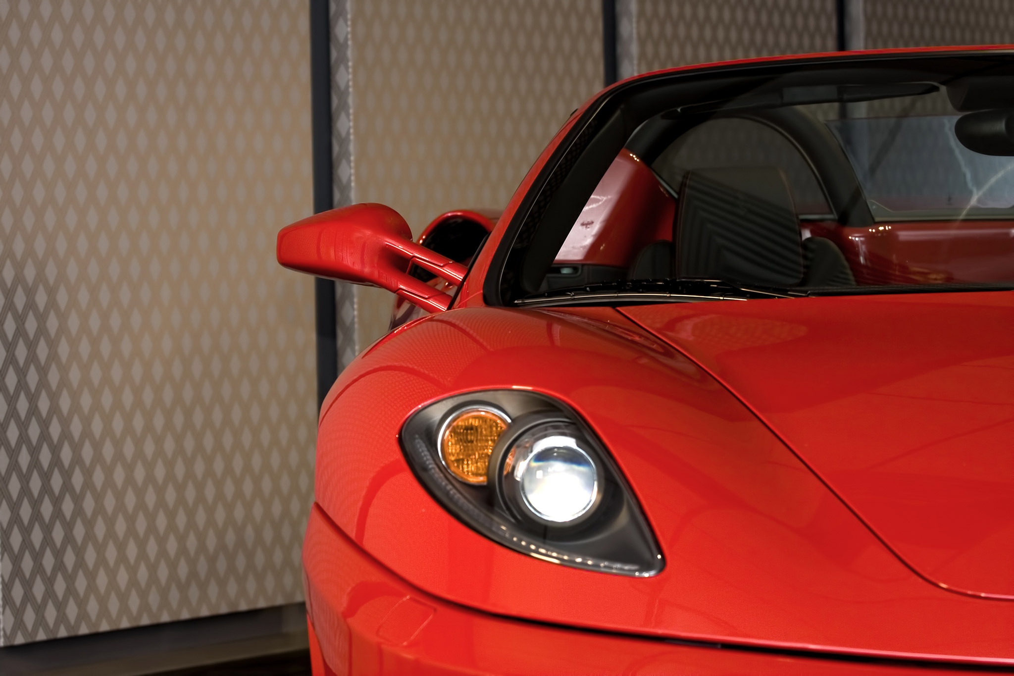 image of ferrari in car storage facility in melbourne